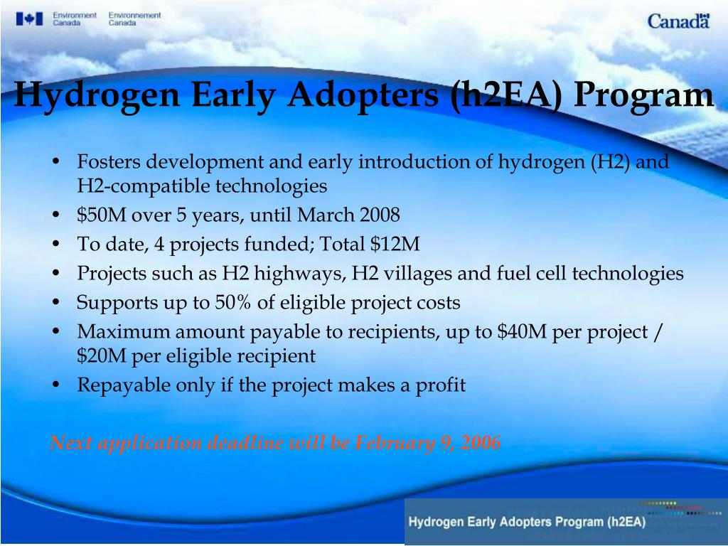 Hydrogen Early Adopters (h2EA) Program