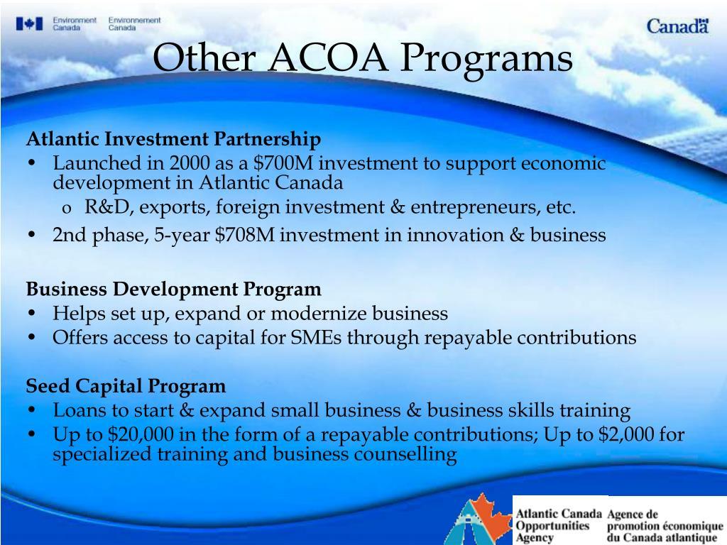 Other ACOA Programs