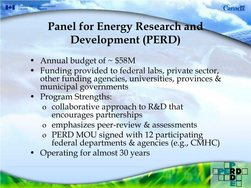 Panel for Energy Research and