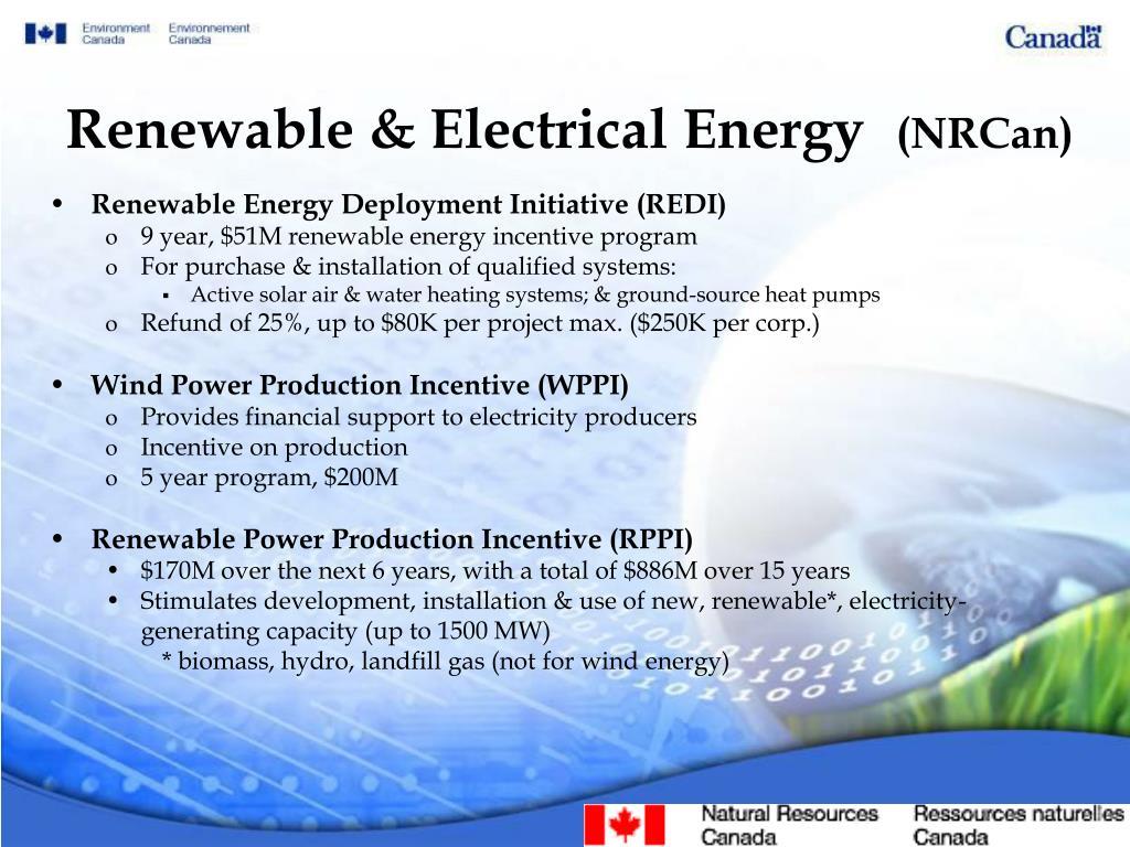 Renewable & Electrical Energy