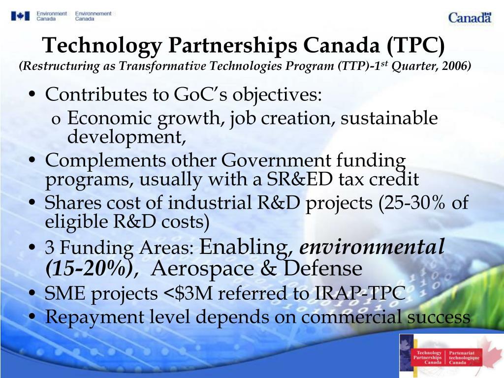 Technology Partnerships Canada (TPC)