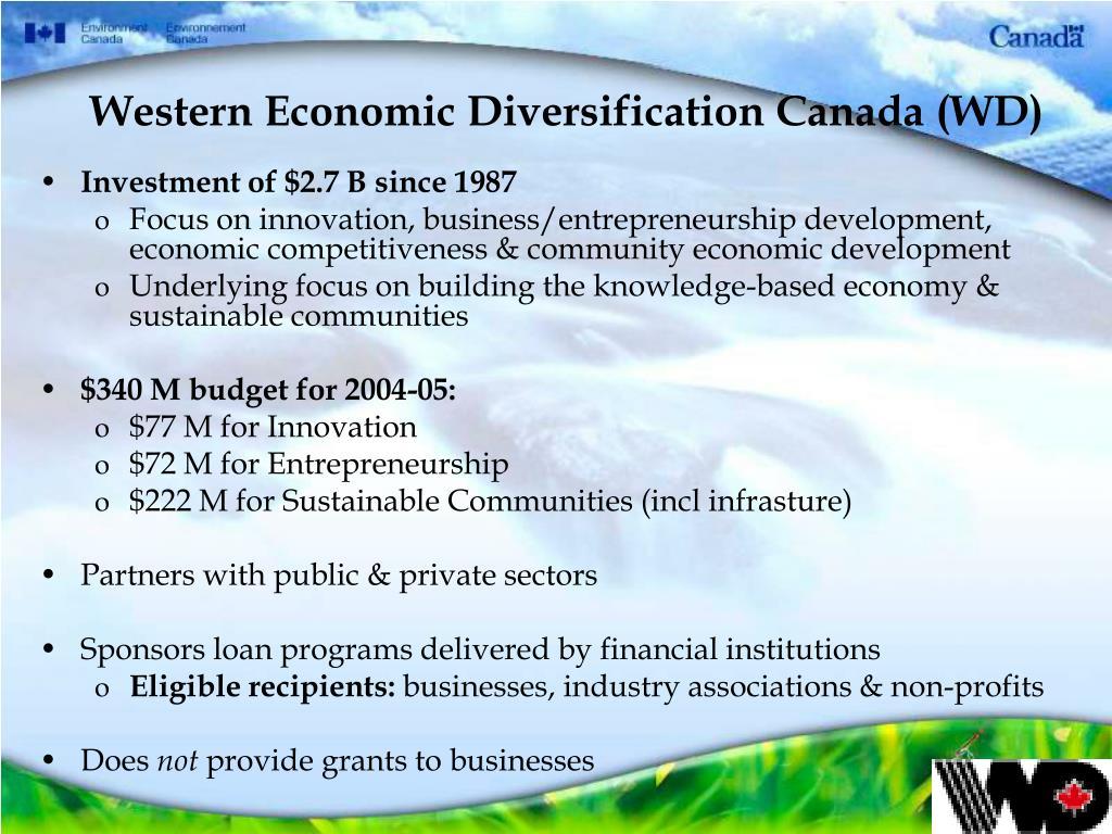 Western Economic Diversification Canada (WD)