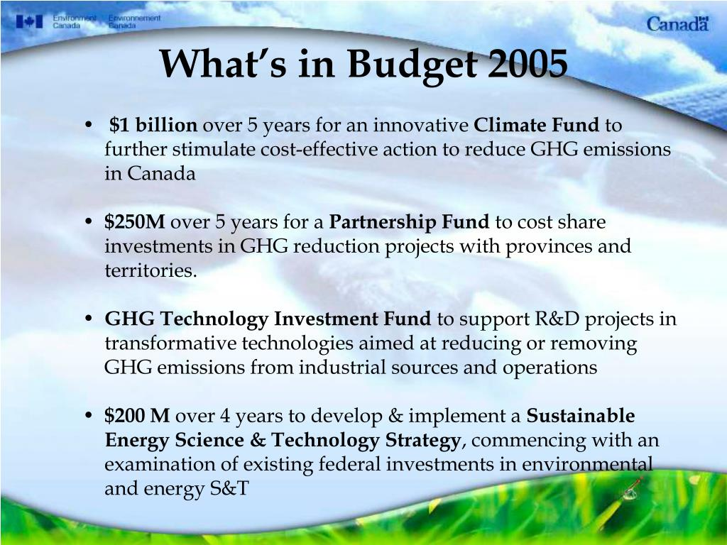 What's in Budget 2005