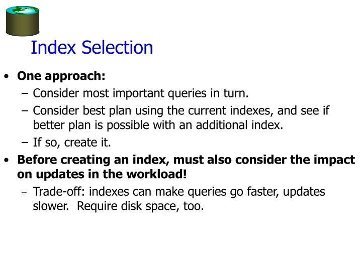Index Selection