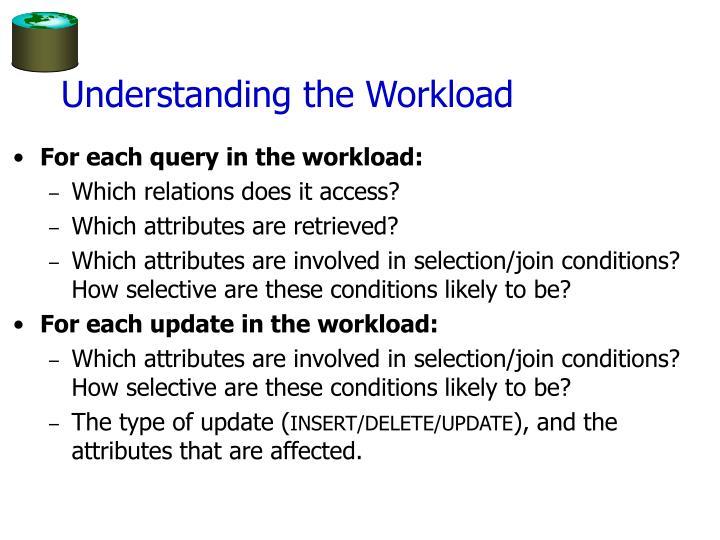 Understanding the workload