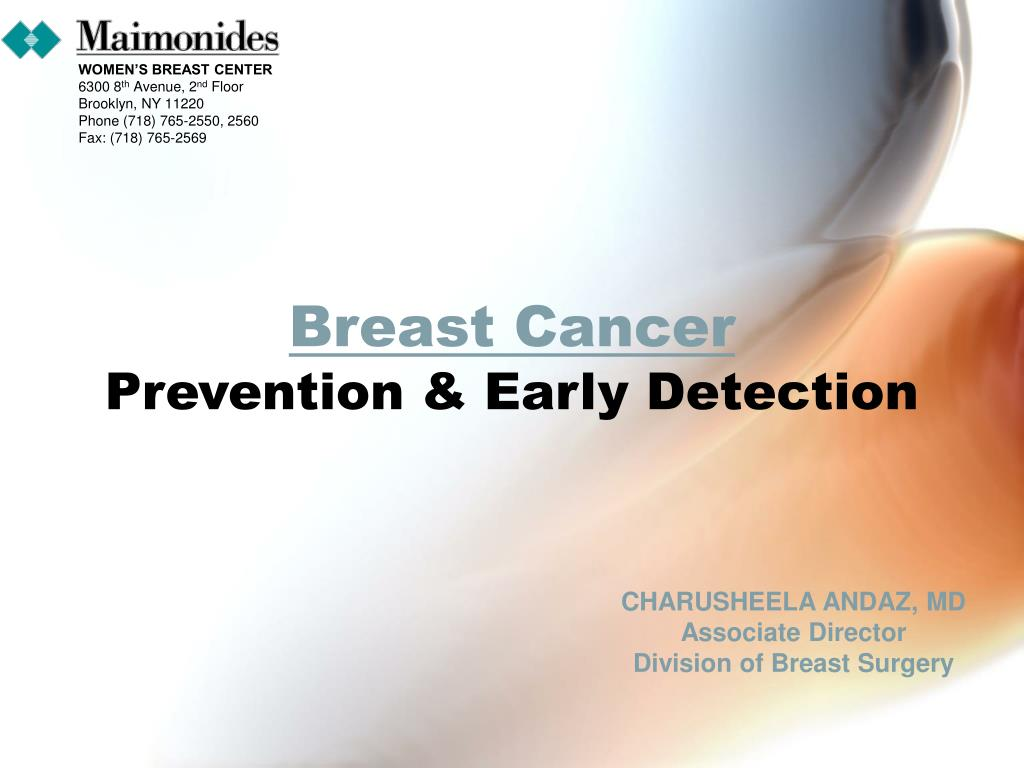 breast cancer prevention early detection l.