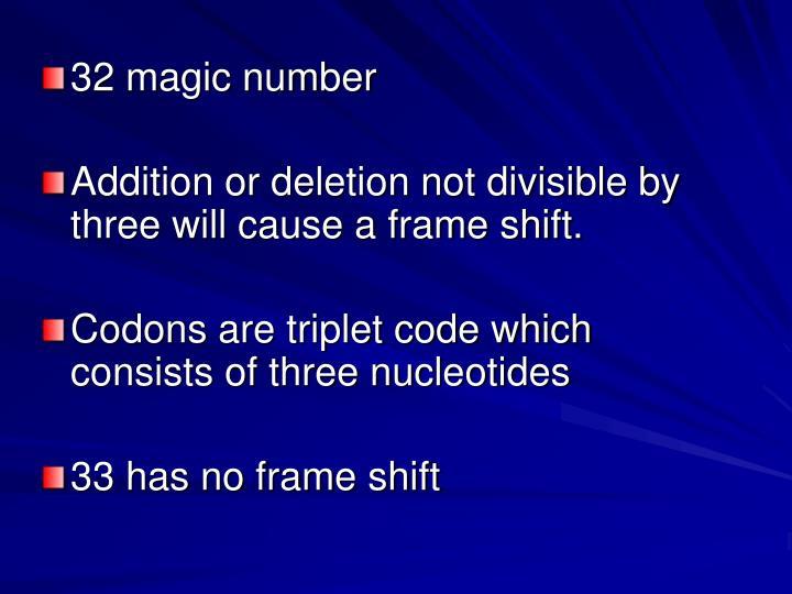 32 magic number