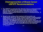 chemoprevention of breast cancer uspstf recommendations