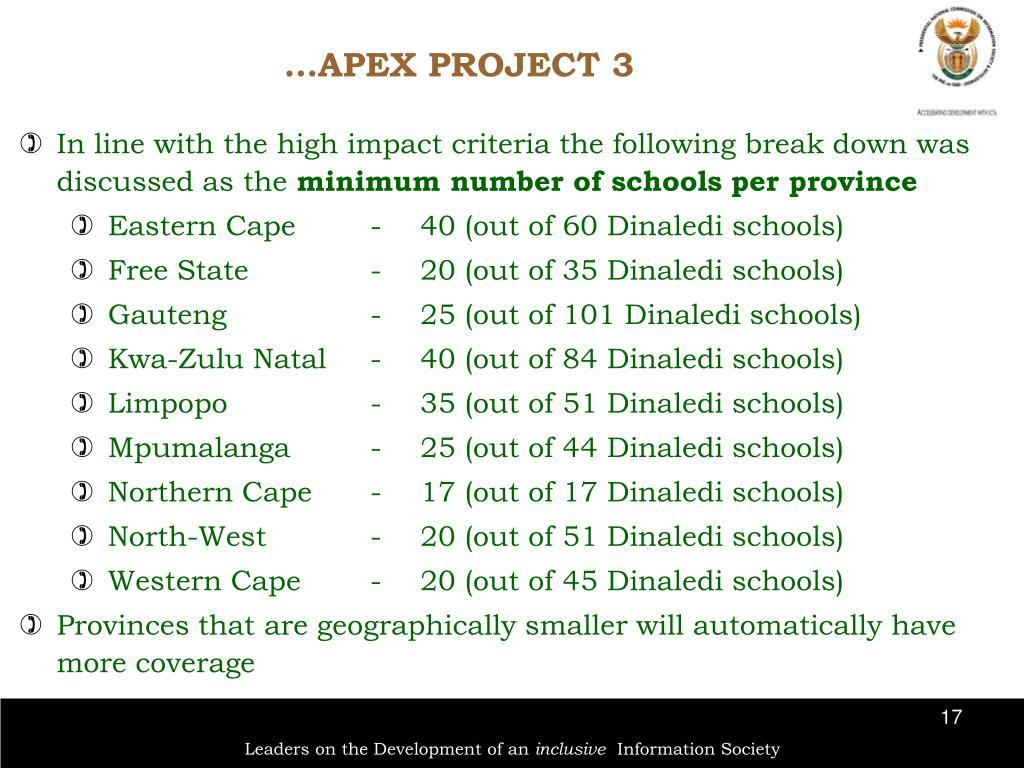 …APEX PROJECT 3