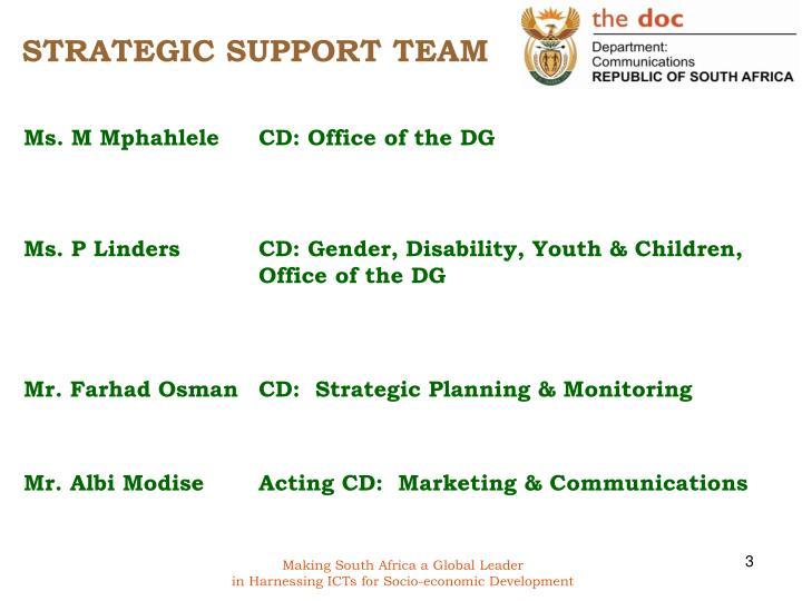 Strategic support team