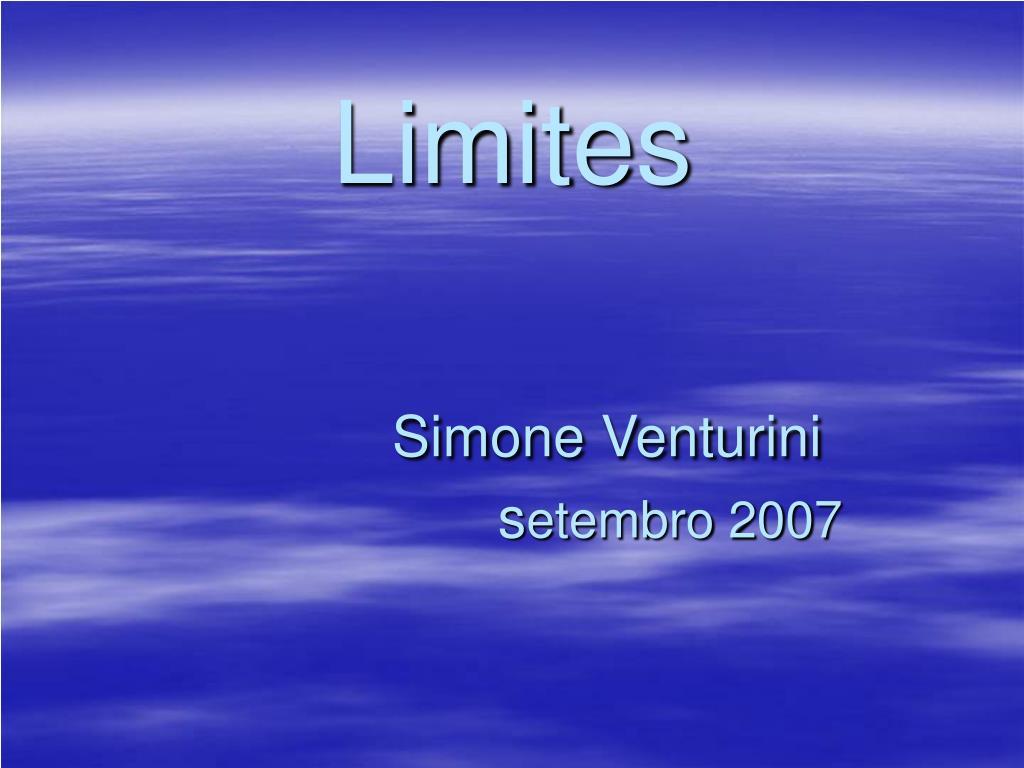 limites simone venturini s etembro 2007