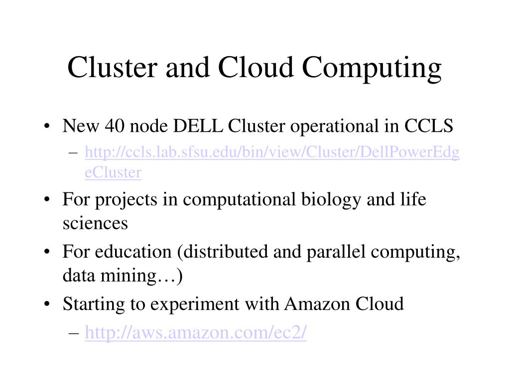 Cluster and Cloud Computing