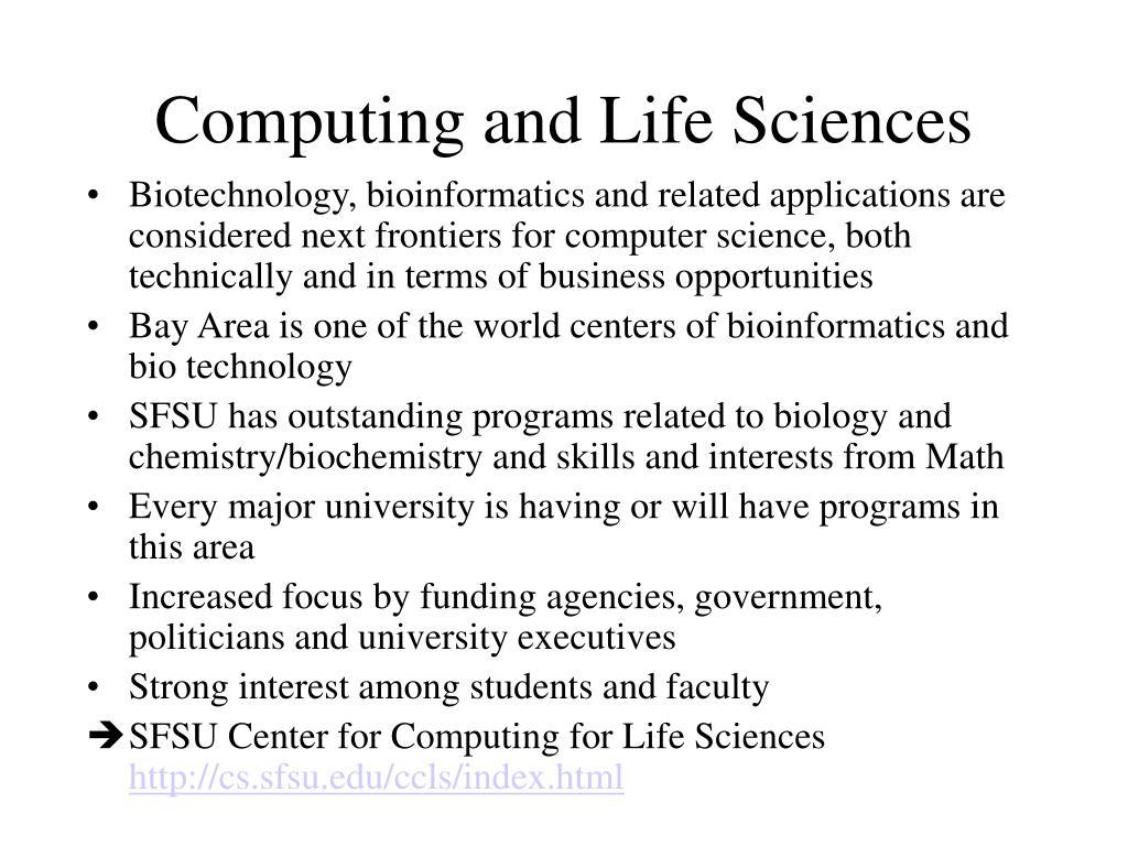 Computing and Life Sciences
