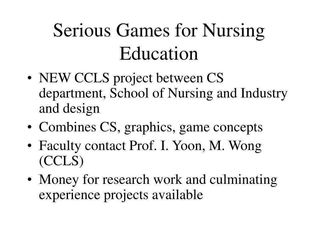 Serious Games for Nursing Education