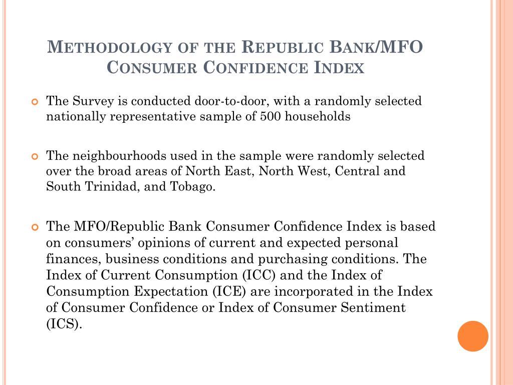 Methodology of the Republic Bank/MFO Consumer Confidence Index