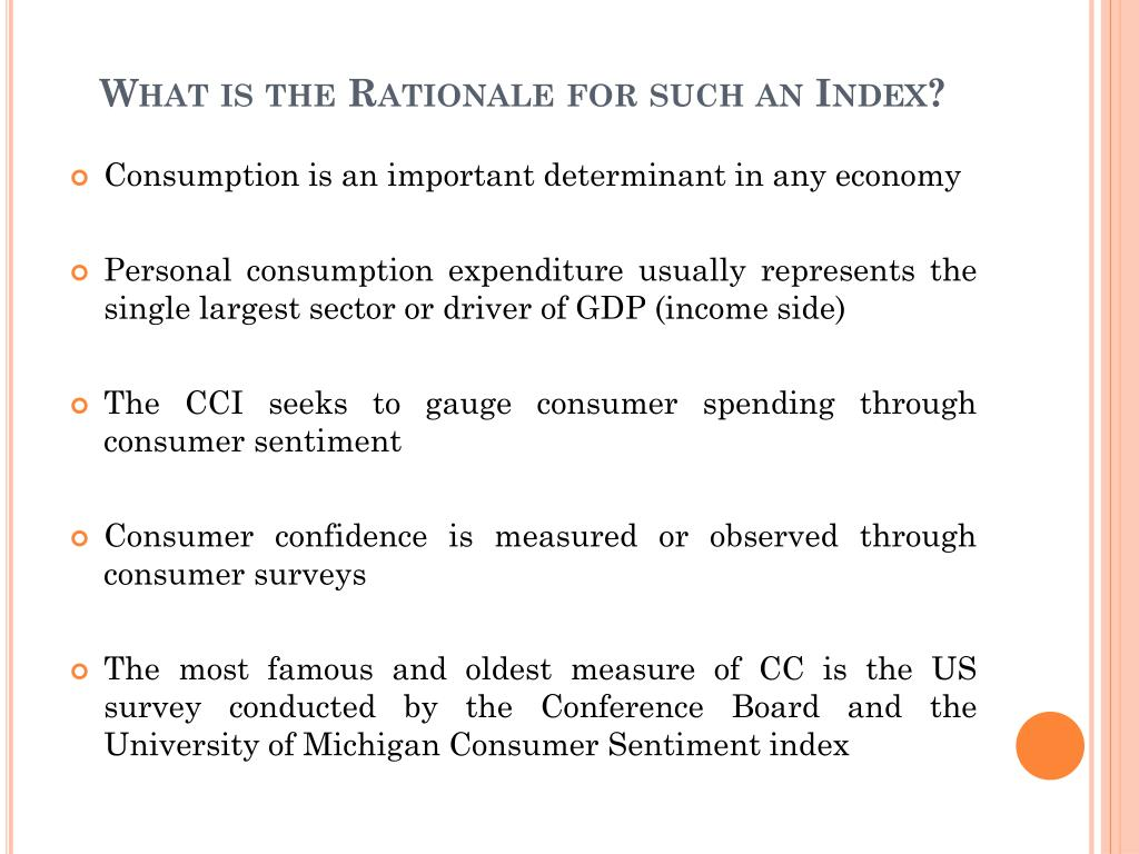 What is the Rationale for such an Index?
