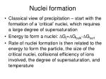 nuclei formation
