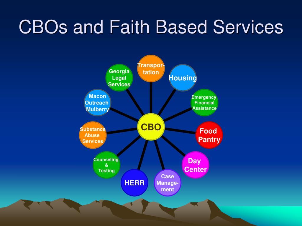 CBOs and Faith Based Services
