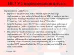 hl7 v3 implementation drivers41