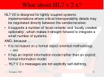 what about hl7 v 2 x20