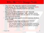 why hl7 v3 design tools