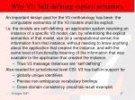 why v3 self defining explicit semantics