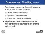 courses vs credits cont d44