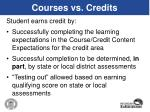 courses vs credits