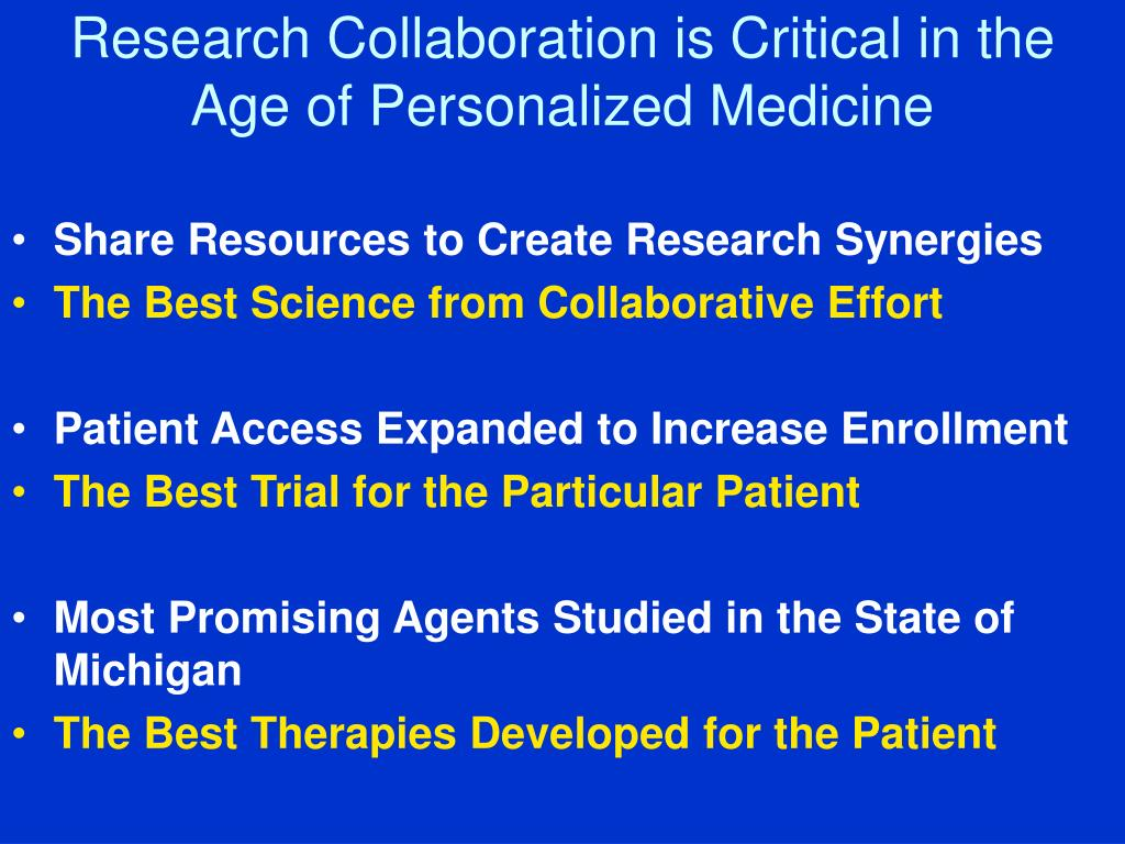 Research Collaboration is Critical in the