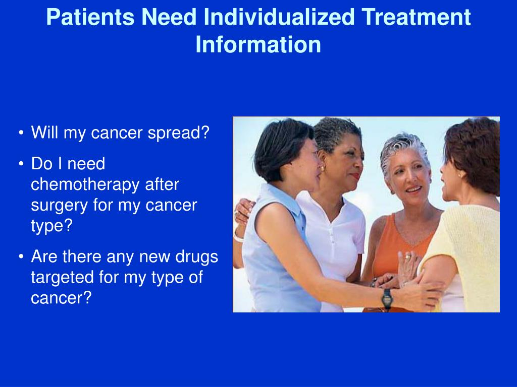 Patients Need Individualized Treatment Information