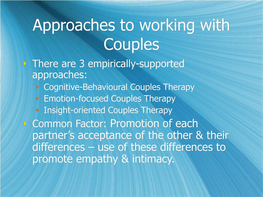Approaches to working with Couples