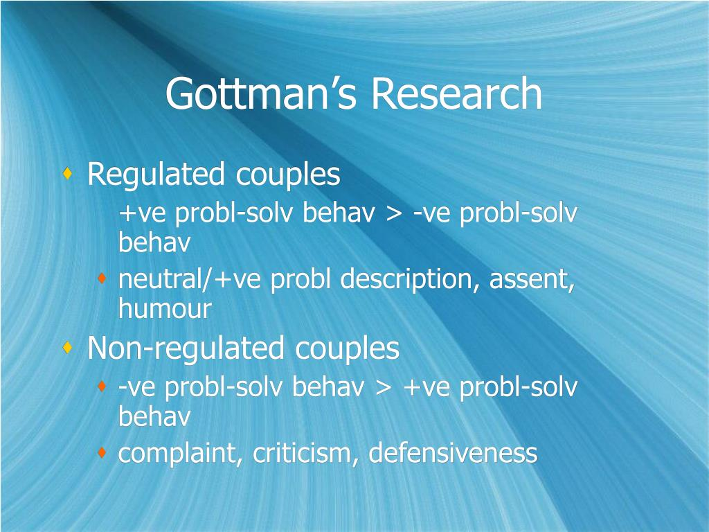 Gottman's Research