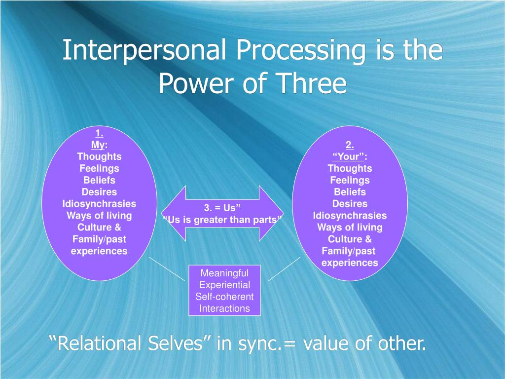 Interpersonal Processing is the Power of Three