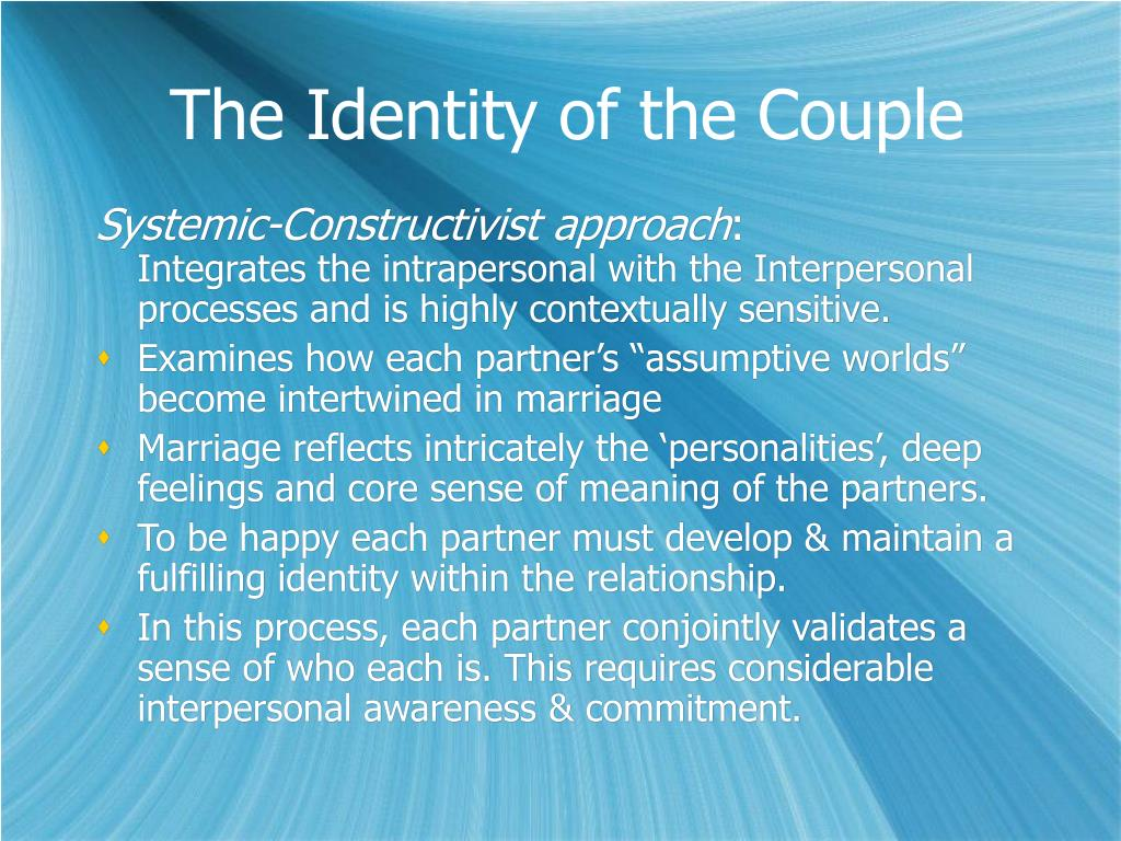The Identity of the Couple