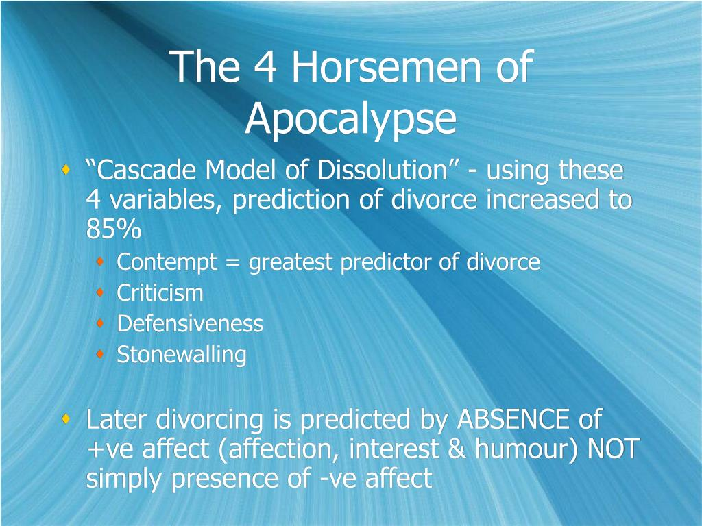 The 4 Horsemen of Apocalypse