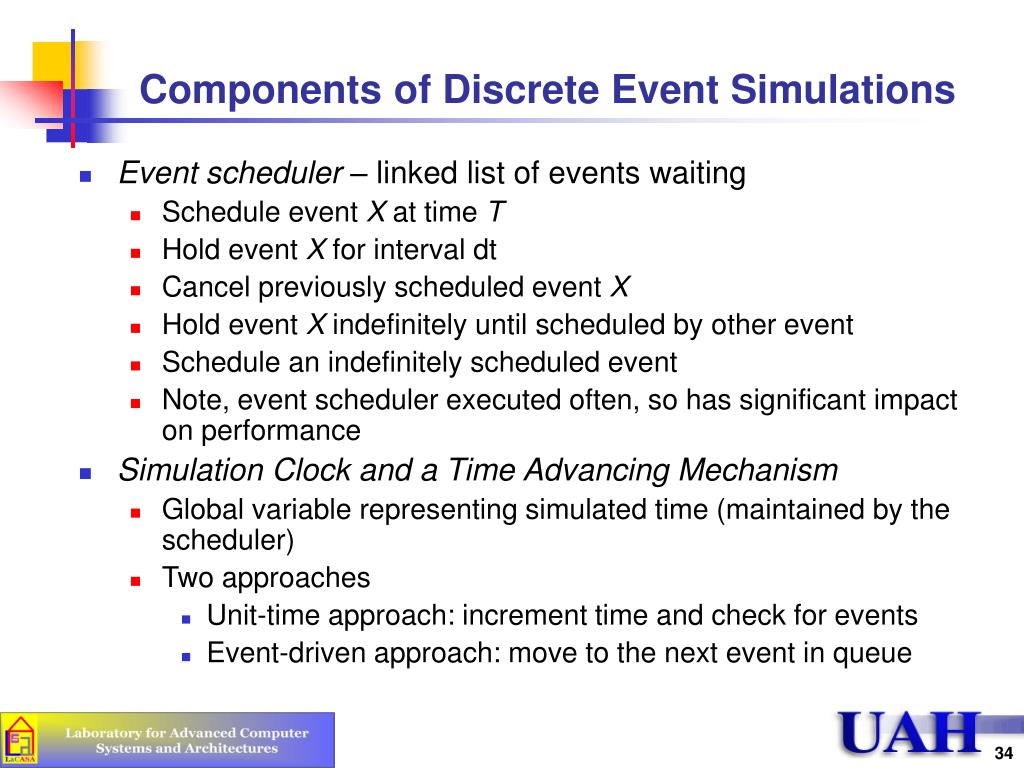 Components of Discrete Event Simulations