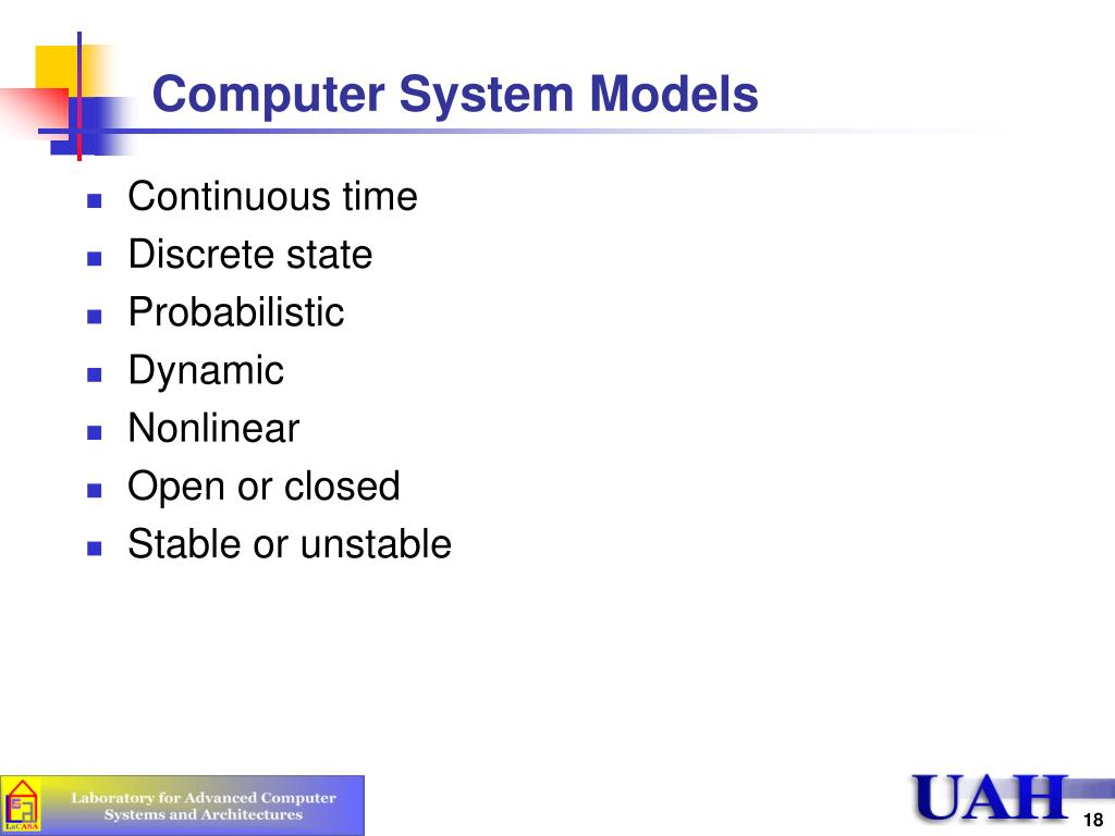 Computer System Models