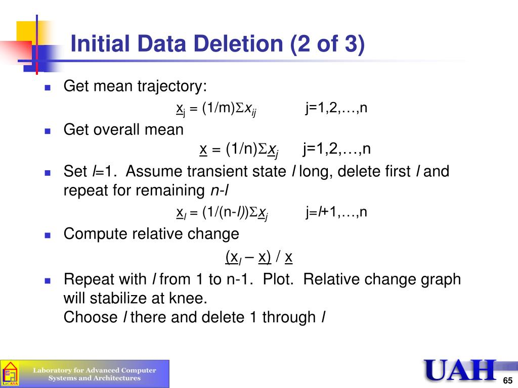 Initial Data Deletion (2 of 3)