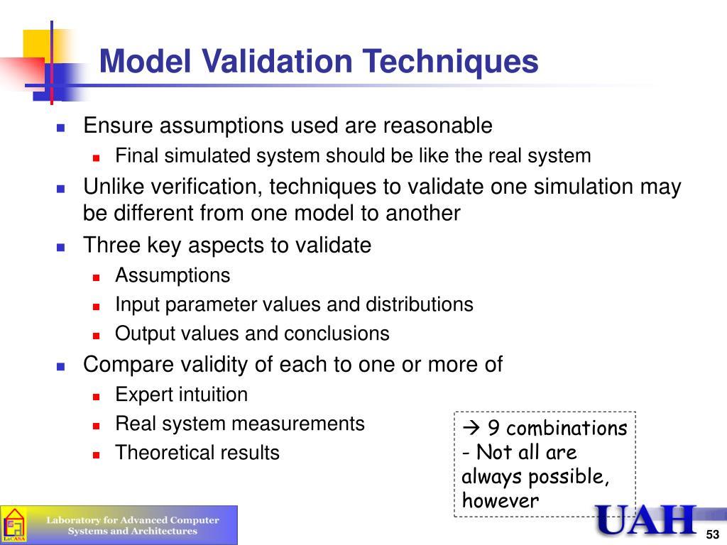 Model Validation Techniques