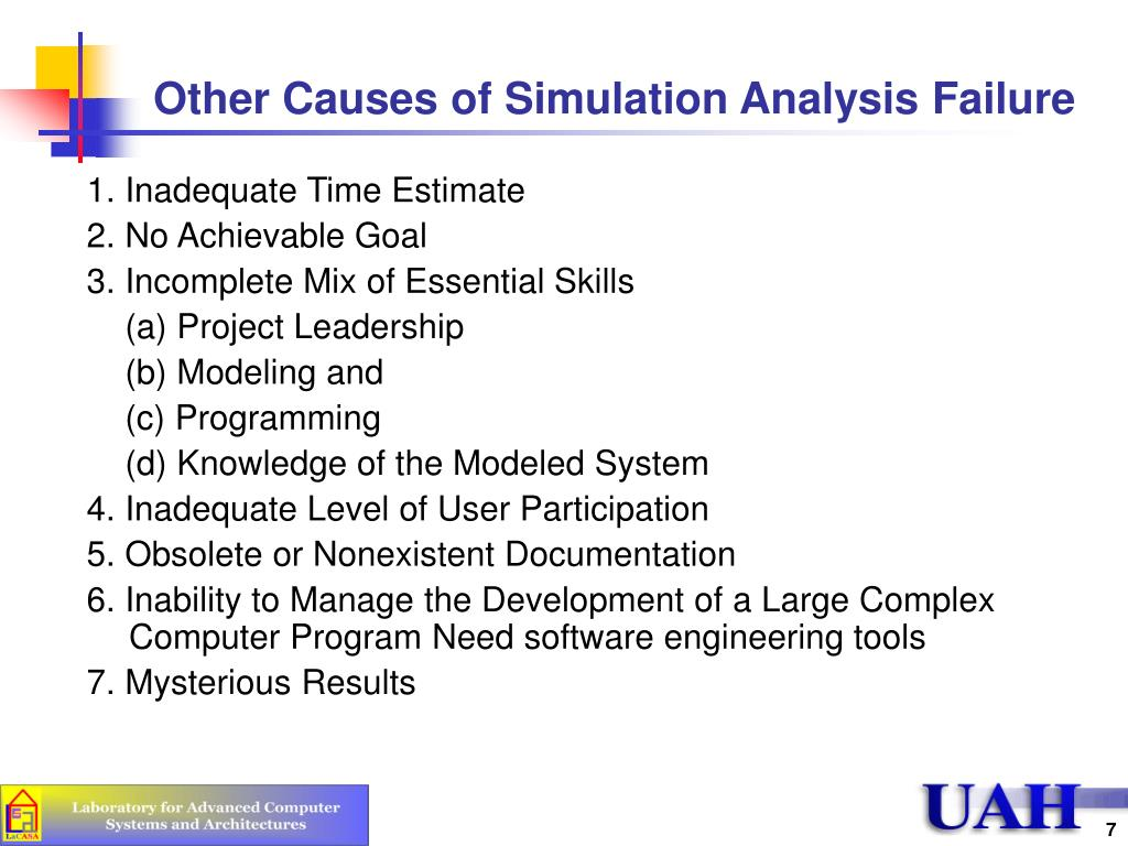 Other Causes of Simulation Analysis Failure