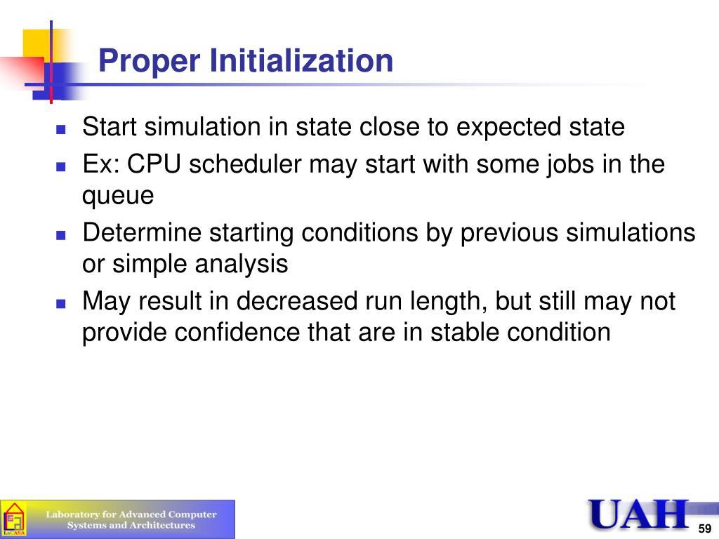 Proper Initialization