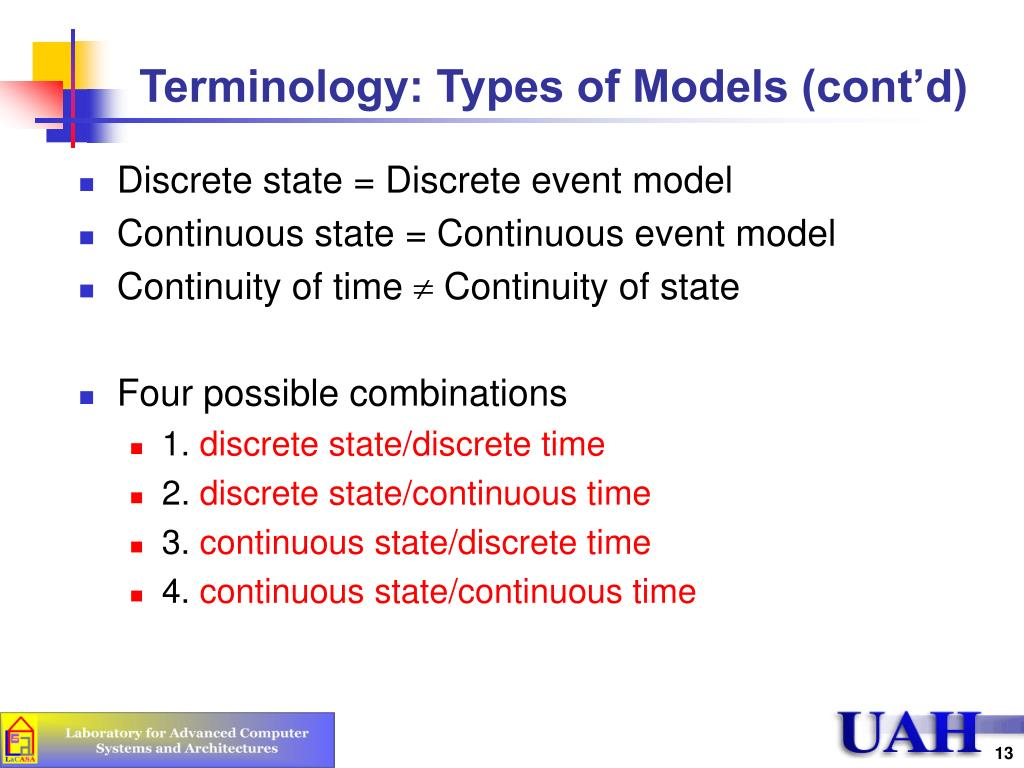 Terminology: Types of Models (cont'd)