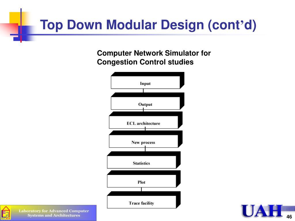 Top Down Modular Design (cont