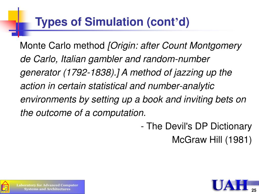Types of Simulation (cont