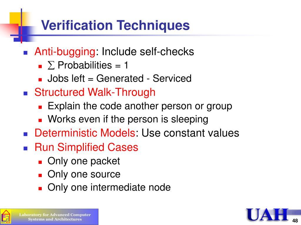 Verification Techniques