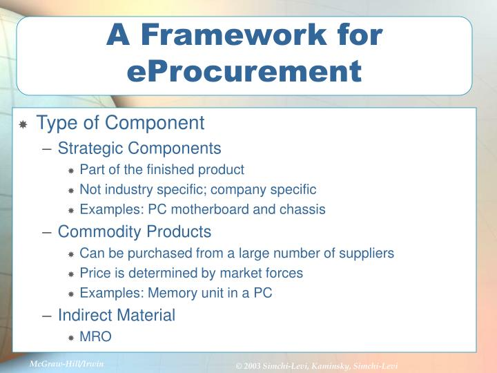 A Framework for eProcurement