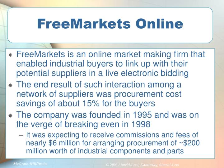 Freemarkets online