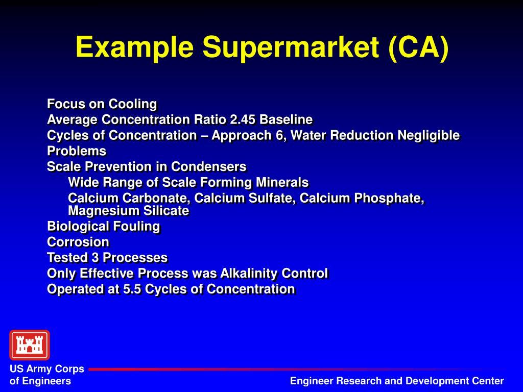Example Supermarket (CA)
