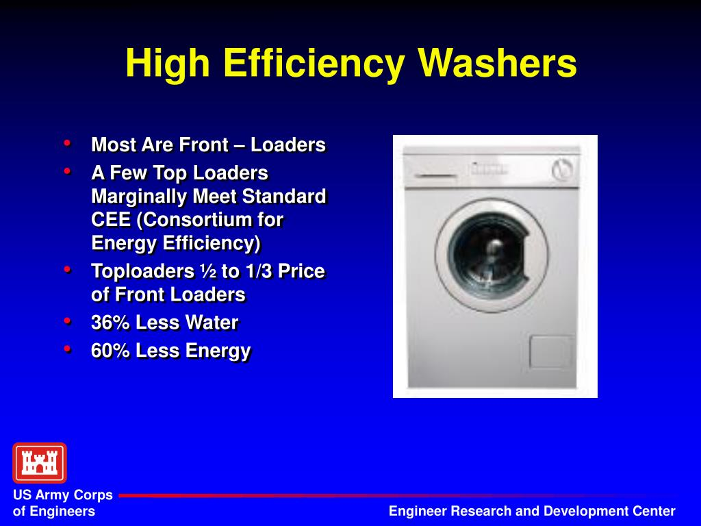High Efficiency Washers