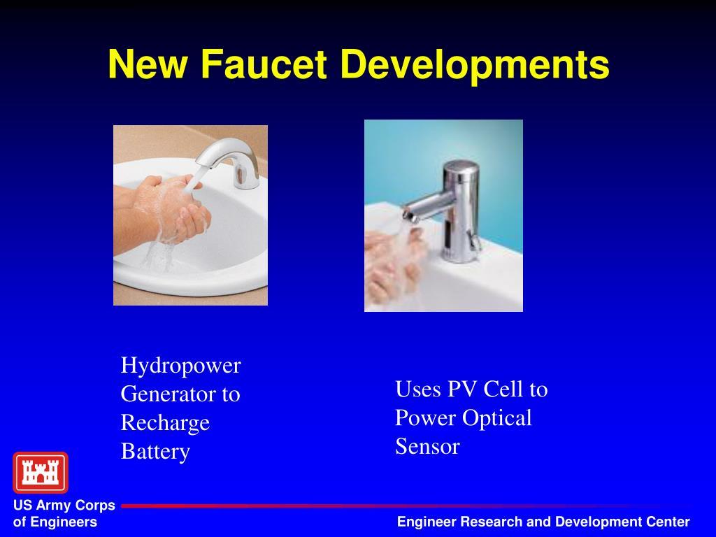 New Faucet Developments